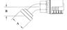 Split Flange (Code 61) 60° Bend
