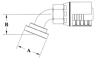 Split Flange (Code 61) 67 1/2° Bend