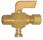 Ground Plug Shutoff Cock (30PSI) Compression to Male Pipe